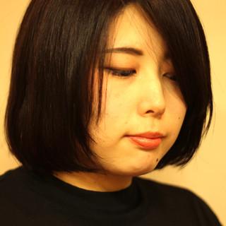 サラサラ ボブ ツヤツヤ 黒髪 ヘアスタイルや髪型の写真・画像