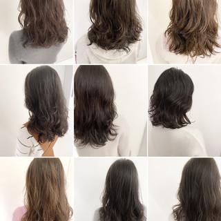イルミナカラー デジタルパーマ ナチュラル アンニュイほつれヘア ヘアスタイルや髪型の写真・画像