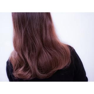 ゆるふわ 外国人風 グラデーションカラー ロング ヘアスタイルや髪型の写真・画像