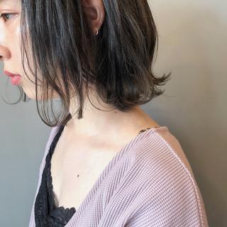 スモーキーカラー 黒髪 ナチュラル 暗髪 ヘアスタイルや髪型の写真・画像