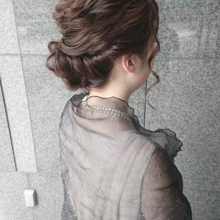 ミディアム ショート ナチュラル 結婚式 ヘアスタイルや髪型の写真・画像