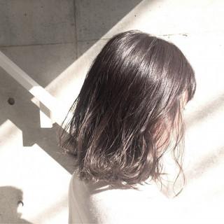 外国人風 ボブ アッシュ グラデーションカラー ヘアスタイルや髪型の写真・画像