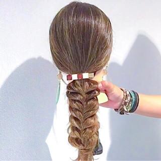 ポニーテール ロング デート 上品 ヘアスタイルや髪型の写真・画像