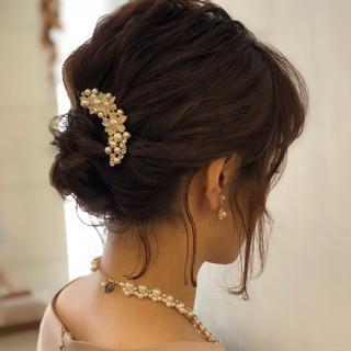 結婚式 デート ナチュラル ミディアム ヘアスタイルや髪型の写真・画像 ヘアスタイルや髪型の写真・画像