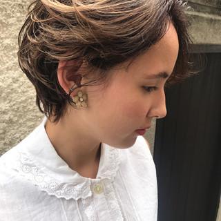 透明感 パーマ デート エレガント ヘアスタイルや髪型の写真・画像