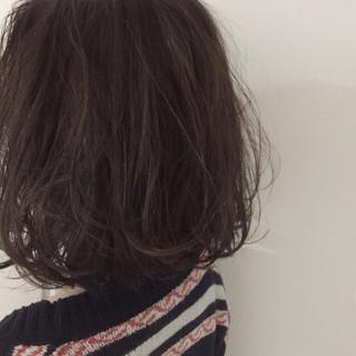 アッシュ ハイライト 外国人風 ボブ ヘアスタイルや髪型の写真・画像