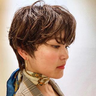 デート 簡単ヘアアレンジ アウトドア ショート ヘアスタイルや髪型の写真・画像 ヘアスタイルや髪型の写真・画像