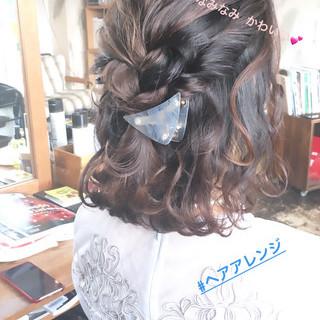 ヘアアレンジ オルチャン 簡単ヘアアレンジ フェミニン ヘアスタイルや髪型の写真・画像
