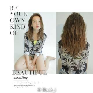 ウェットヘア パンク セミロング 春 ヘアスタイルや髪型の写真・画像