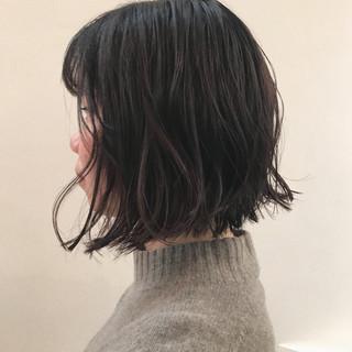 まとまるボブ 外ハネボブ 切りっぱなしボブ ショートボブ ヘアスタイルや髪型の写真・画像