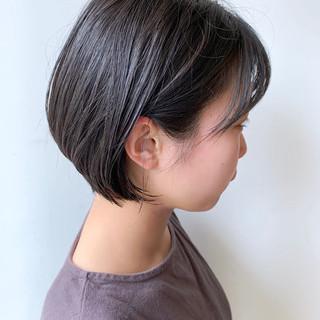 ショートボブ ショート ナチュラル 黒髪 ヘアスタイルや髪型の写真・画像 ヘアスタイルや髪型の写真・画像