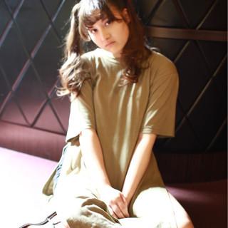 外国人風 フェミニン ゆるふわ ヘアアレンジ ヘアスタイルや髪型の写真・画像