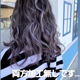 圧倒的透明感 ブリーチ エレガント ダブルカラー ヘアスタイルや髪型の写真・画像