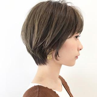 ヘアアレンジ ナチュラル ショート デート ヘアスタイルや髪型の写真・画像