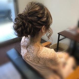 ヘアアレンジ アップスタイル セミロング パーティ ヘアスタイルや髪型の写真・画像