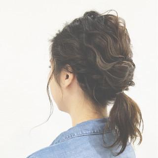 簡単ヘアアレンジ ツイスト ボブ くるりんぱ ヘアスタイルや髪型の写真・画像 ヘアスタイルや髪型の写真・画像