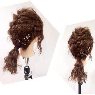 セミロング 大人かわいい 簡単ヘアアレンジ ショート ヘアスタイルや髪型の写真・画像 ヘアスタイルや髪型の写真・画像