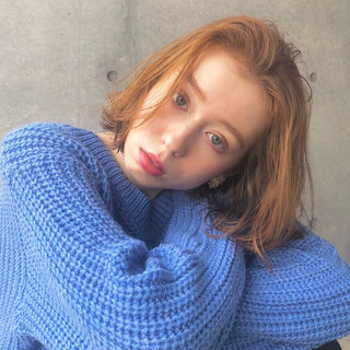 透明感 外ハネ 外国人風 ロブ ヘアスタイルや髪型の写真・画像