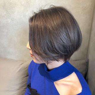 簡単ヘアアレンジ アンニュイほつれヘア ショート ショートボブ ヘアスタイルや髪型の写真・画像