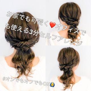 オフィス フェミニン ヘアアレンジ 簡単ヘアアレンジ ヘアスタイルや髪型の写真・画像 ヘアスタイルや髪型の写真・画像