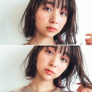 大人かわいい レイヤーカット フェミニン ミディアム ヘアスタイルや髪型の写真・画像
