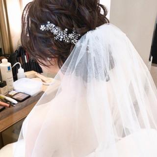 結婚式髪型 セミロング 大人かわいい おしゃれさんと繋がりたい ヘアスタイルや髪型の写真・画像