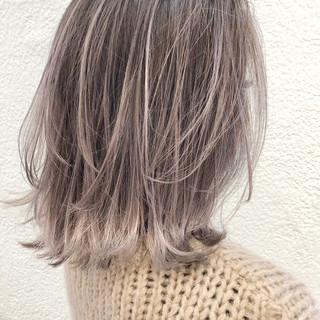 大人ハイライト レイヤーカット ボブ エレガント ヘアスタイルや髪型の写真・画像