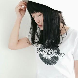 ヘアアレンジ 小顔 セミロング 女子会 ヘアスタイルや髪型の写真・画像