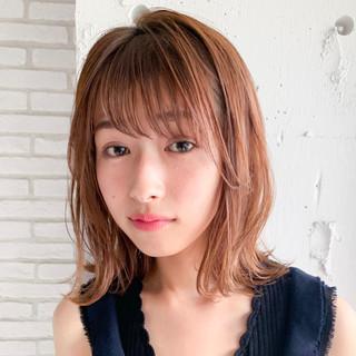 デジタルパーマ シースルーバング 前髪なし 前髪パーマ ヘアスタイルや髪型の写真・画像