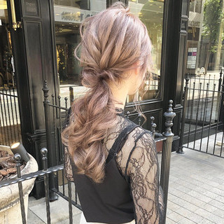 簡単ヘアアレンジ ガーリー 大人可愛い ロング ヘアスタイルや髪型の写真・画像
