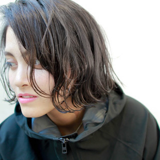 外国人風 ブルージュ ボブ ナチュラル ヘアスタイルや髪型の写真・画像