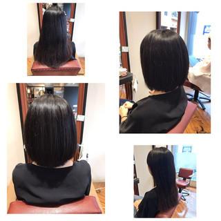 ボブ オフィス リラックス デート ヘアスタイルや髪型の写真・画像