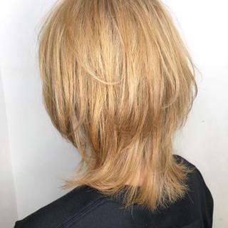 ミディアム 外国人風 イルミナカラー ストリート ヘアスタイルや髪型の写真・画像