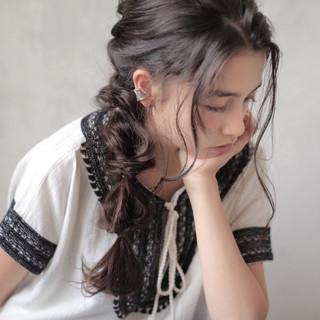 外国人風 デート ウェーブ 簡単ヘアアレンジ ヘアスタイルや髪型の写真・画像