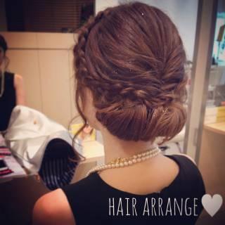 フェミニン ヘアアレンジ 愛され コンサバ ヘアスタイルや髪型の写真・画像