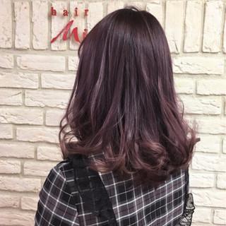 バイオレットアッシュ 原宿系 ミディアム ストリート ヘアスタイルや髪型の写真・画像