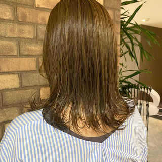 艶髪 外ハネボブ N.オイル ナチュラル ヘアスタイルや髪型の写真・画像