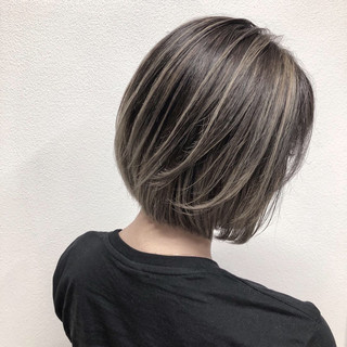 ストリート ハイライト 外国人風カラー 透明感 ヘアスタイルや髪型の写真・画像