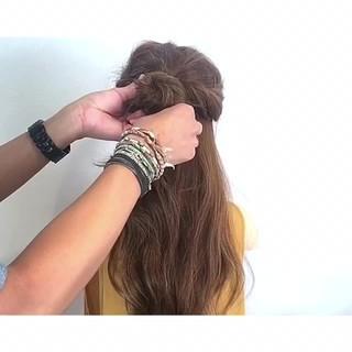 色気 フェミニン アウトドア ヘアアレンジ ヘアスタイルや髪型の写真・画像