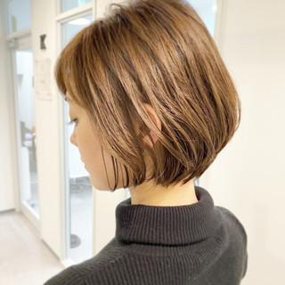 デート ショートヘア ショートボブ ゆるふわ ヘアスタイルや髪型の写真・画像