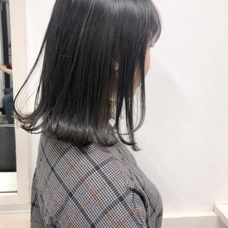 ナチュラル ブルージュ ロブ 透明感カラー ヘアスタイルや髪型の写真・画像