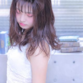 簡単ヘアアレンジ ガーリー セミロング ヘアアレンジ ヘアスタイルや髪型の写真・画像