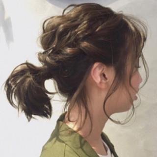 ナチュラル ミディアム 結婚式 アンニュイほつれヘア ヘアスタイルや髪型の写真・画像