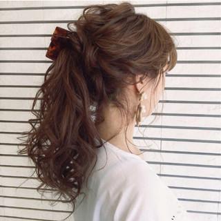 大人かわいい 大人女子 ヘアアレンジ ナチュラル ヘアスタイルや髪型の写真・画像