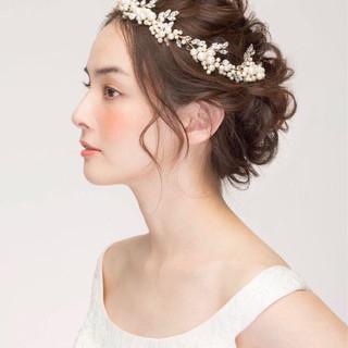 結婚式 ヘアアレンジ 大人かわいい 上品 ヘアスタイルや髪型の写真・画像