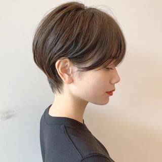 ショート ナチュラル 簡単ヘアアレンジ オフィス ヘアスタイルや髪型の写真・画像