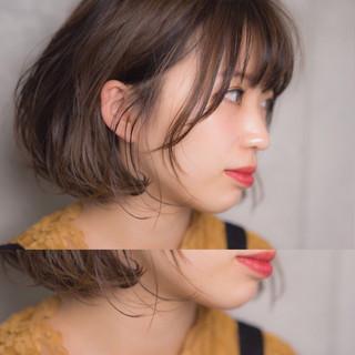 アンニュイ ナチュラル 秋 ボブ ヘアスタイルや髪型の写真・画像