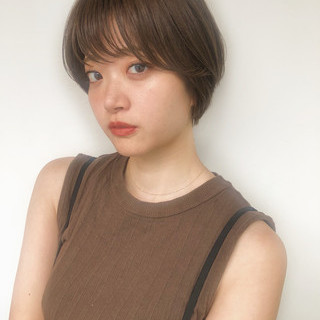 ショート 簡単ヘアアレンジ ナチュラル ショートヘア ヘアスタイルや髪型の写真・画像