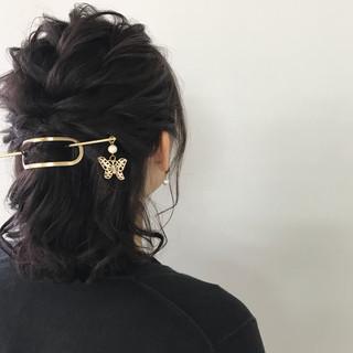 オフィス ナチュラル デート ヘアアレンジ ヘアスタイルや髪型の写真・画像