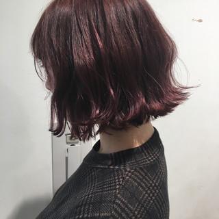 愛され 切りっぱなし 透明感 ピンク ヘアスタイルや髪型の写真・画像